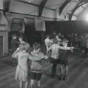Dance class at Bletchley Road School, 1930.